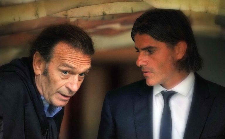 Massimo Cellino e Diego Lopez a colloquio